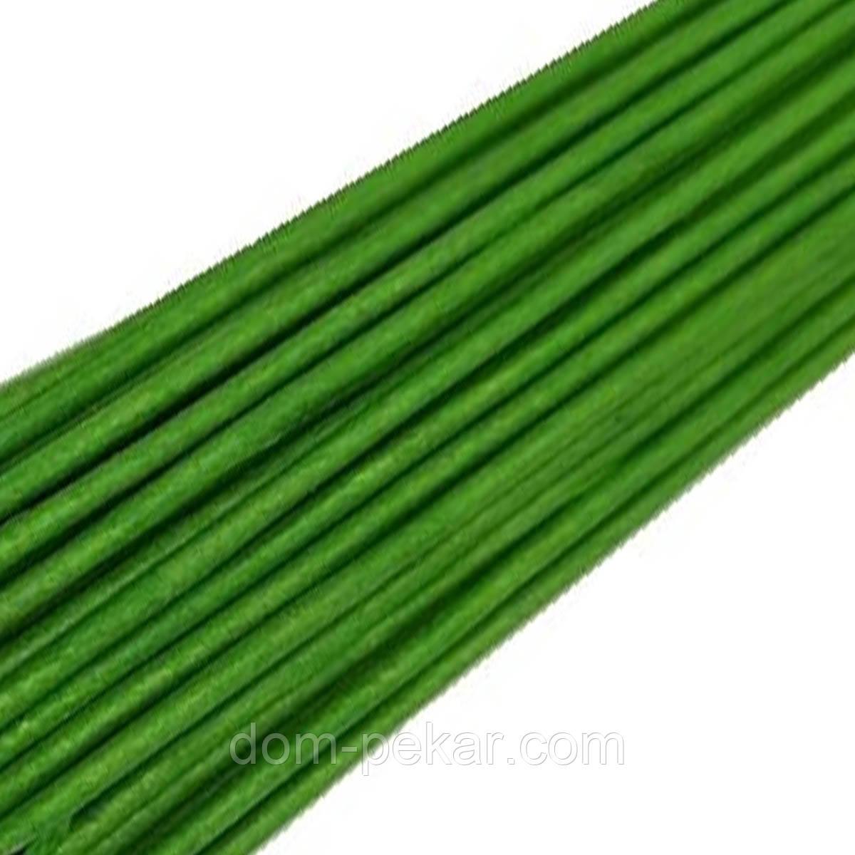 Проволока флористическая зеленая 14, 15 шт