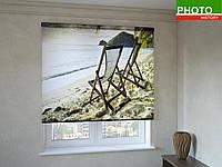Рулонные шторы с фотопечатью песчаный пляж