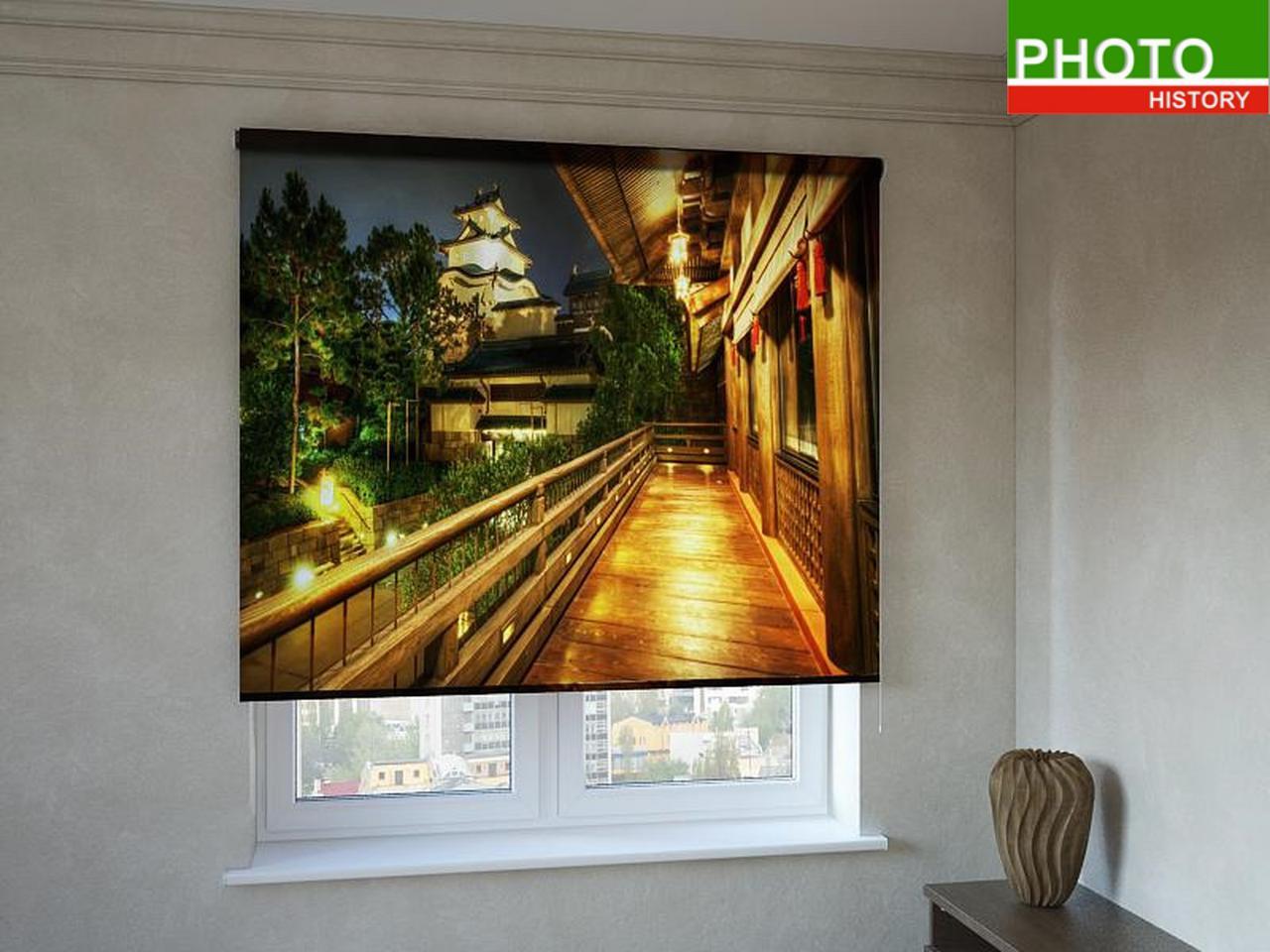 Рулонные шторы с фотопечатью уютная терраса