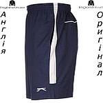 Шорты бриджи мужские Slazenger темно синие с полосой, фото 3