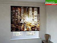 Рулонные шторы с фотопечатью золотой Нью - Йорк