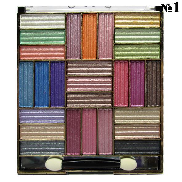 Тени для Век Han Ling в Наборе 6002, 27 цветов, тон 01, Декоративная Косметика, Макияж Глаз