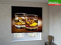 Рулонные шторы с фотопечатью бокал виски со льдом