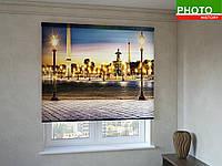Рулонные шторы с фотопечатью площадь фонарей