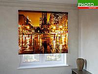 Рулонные шторы с фотопечатью дождливый бульвар