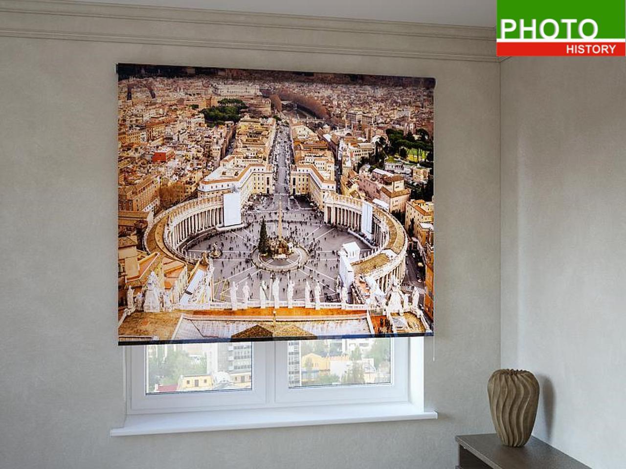 Рулонные шторы с фотопечатью площадь в Риме