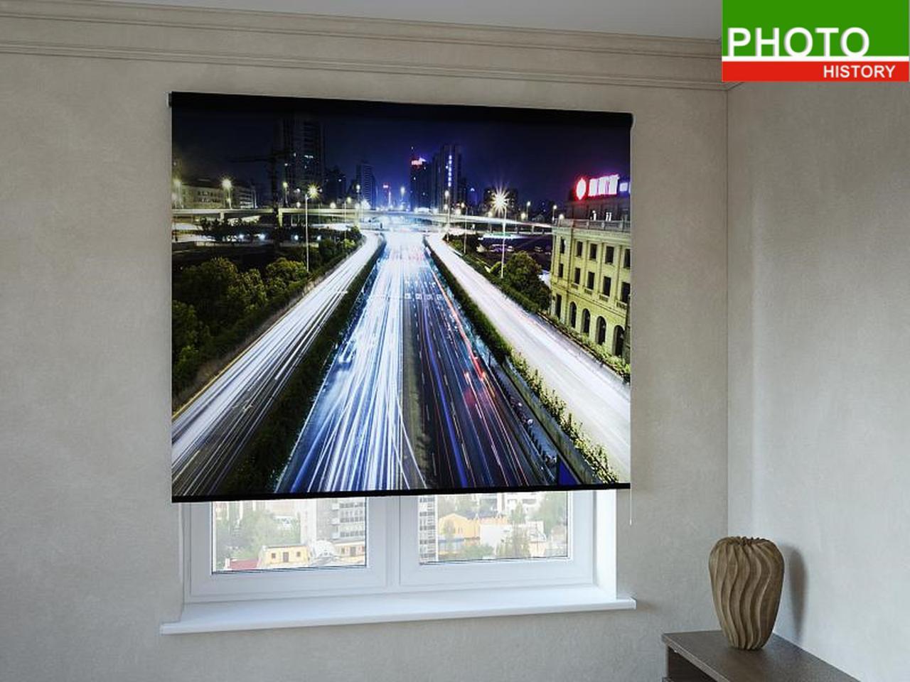 Рулонные шторы с фотопечатью свет дорог
