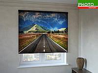 Рулонные шторы с фотопечатью дорога в пустыне