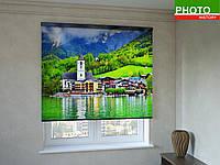 Рулонные шторы с фотопечатью гостиница в Альпах