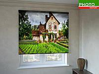 Рулонные шторы с фотопечатью домик в деревне