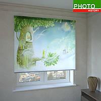 Рулонные шторы с фотопечатью дерево чудес
