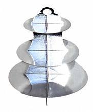 Стойка для кексов 3 яруса Серебро