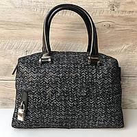 Женская кожаная сумка Furla твид