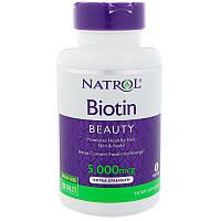 Natrol, Биотин, Экстра сила, 5000 мкг, 150 таблеток, фото 1