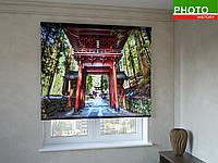 Рулонные шторы с фотопечатью арка в Японии