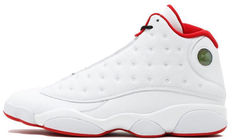 Мужские кроссовки Nike Air Jordan 13 Retro GS (Найк Аир Джордан) красно-белые