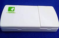Таблетница на 2 ячейки с разделителем таблеток