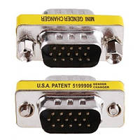 Переходник 15-контактный VGA SVGA Конвертер (П-П) Адаптер
