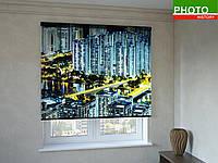 Рулонные шторы с фотопечатью сияние небоскребов
