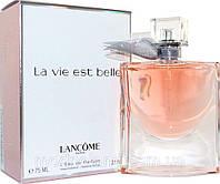 Женская парфюмированная вода Lancome La Vie Est Belle 75 ml (Ланком Ля Вие Ест Белль) Реплика