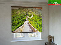 Рулонные шторы с фотопечатью кирпичный мост в горах