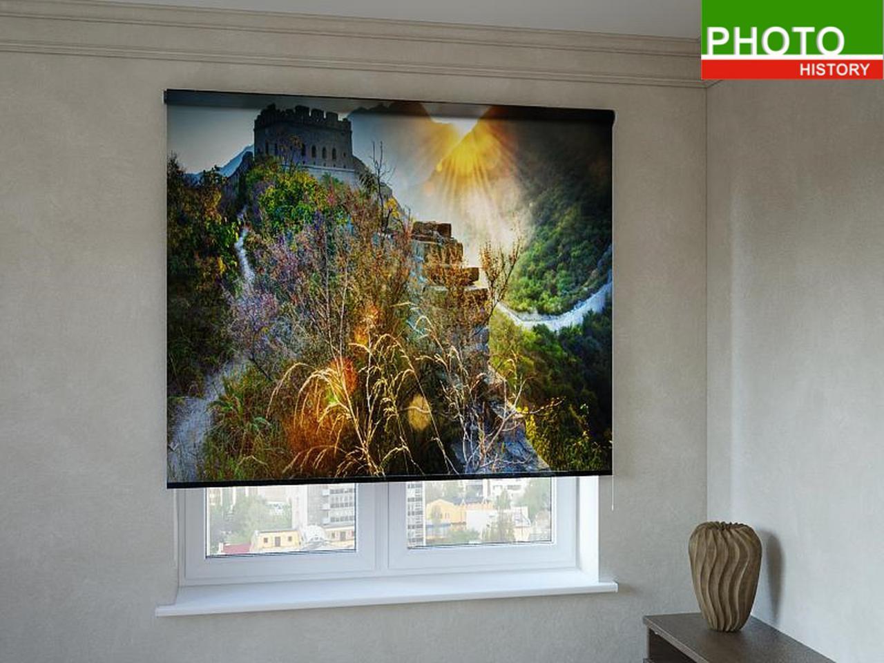 Рулонные шторы с фотопечатью крепость в горах