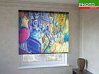 Рулонные шторы с фото печатью сказочный мир