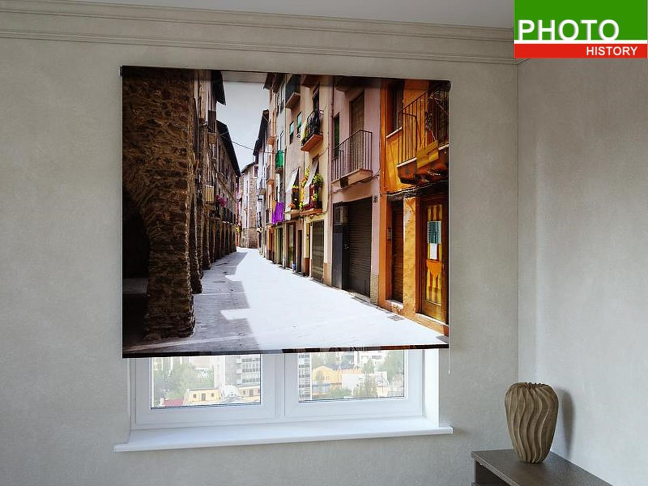 Рулонные шторы с фотопечатью солнечная улочка