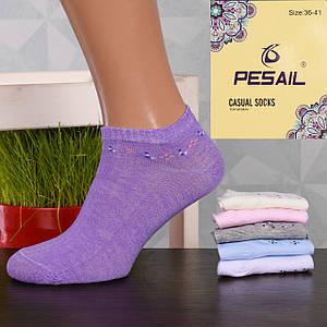 Женские короткие носки Pesail PW02358. В упаковке 12 пар