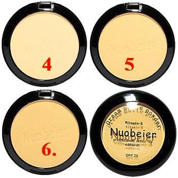 "Пудра для Лица ""NUOBEIER"" Natural с витаминами Е, SPF 20. Код 1148"