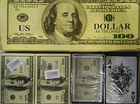 """Карти гральні пластикові 19мкм """"Долар"""" 54карты, інд упаковка Д-19-1 уп12 ящ144"""