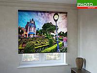 Рулонные шторы с фотопечатью ландшафтный сад