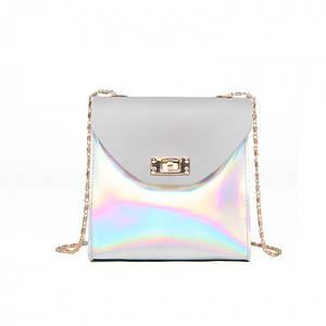 Мини сумка женская клатч Bobby Mini Gray eps-6068
