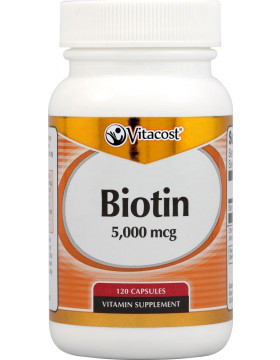 Vitacost Биотин 5000 мкг, 120 капсул. Сделано в США.