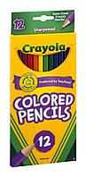 Цветные карандаши Crayola 12 штук Крайола