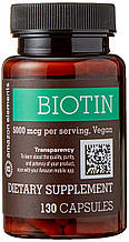 Amazon Elements Биотин 5000 мкг, 130 капсул.