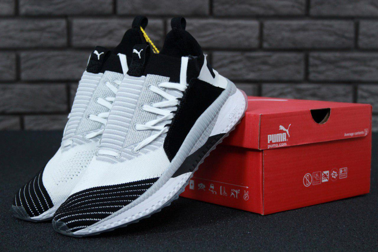 Кроссовки Puma Tsugi Jun Cubism White/Black. Живое фото! (Реплика ААА+)