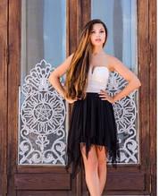 Сукня вечірня коктейльна сукня з пишною спідницею чорно-біле