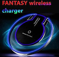 Комплект беспроводное зарядное устройство  Fantasy Qi + приемник контроллер Awei Micro USB, фото 1
