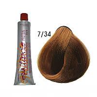 Краска-крем для волос тон 7/34 (средне-русый золотисто-медный) Erayba Equlibrio  120 мл
