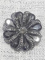 Большие, круглые,фигурные, металлические с камнями пуговицы D&G,3см, фото 1