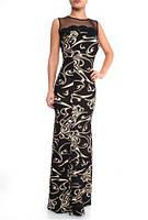 Платье нарядное вечернее, платье длинное в пол черное
