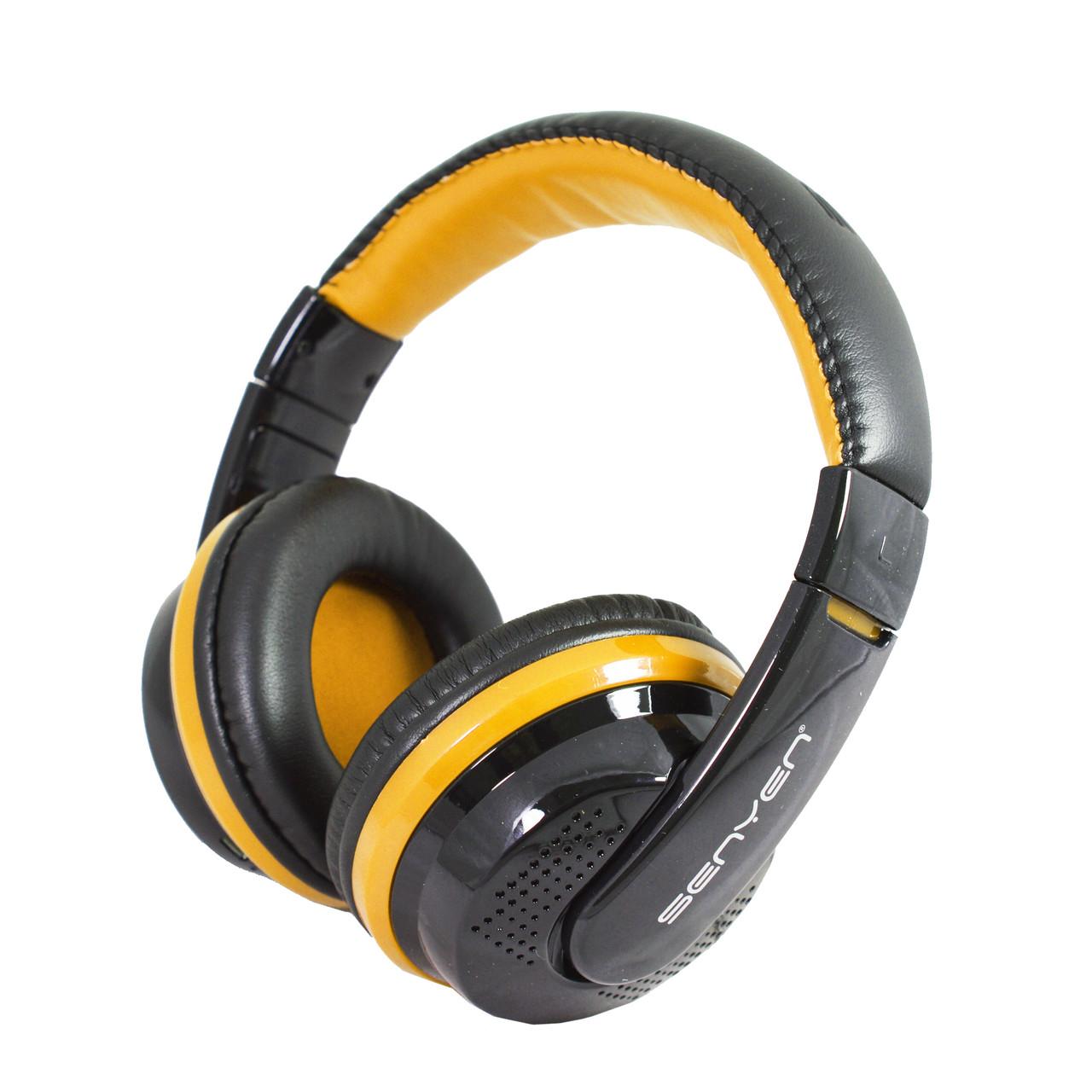 Наушники беспроводные Stereo Senyen SY208 Bluetooth Black-Yellow ... 1a2d25f9344c6