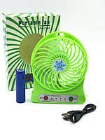 Портативный вентилятор 2E Mini Fan Portable с аккумулятором 18650 green