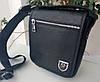Мужская кожаная сумка Philipp Plein черная. Барсетка мужская кожаная
