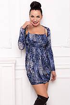 Сукня жіноча синього кольору з балеро ошатне, коктейльне, вечірнє, святкове, молодіжне