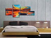 Модульная картина под рисованные красками
