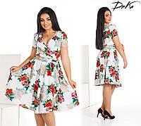 Модное женское платье на запах , фото 1