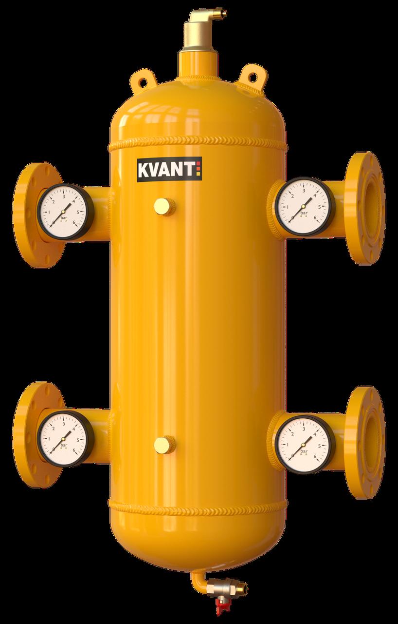 Гидрострелка сепаратор TRF-150 фланцев. Ду150 с манометрами KVANT Air DiRT