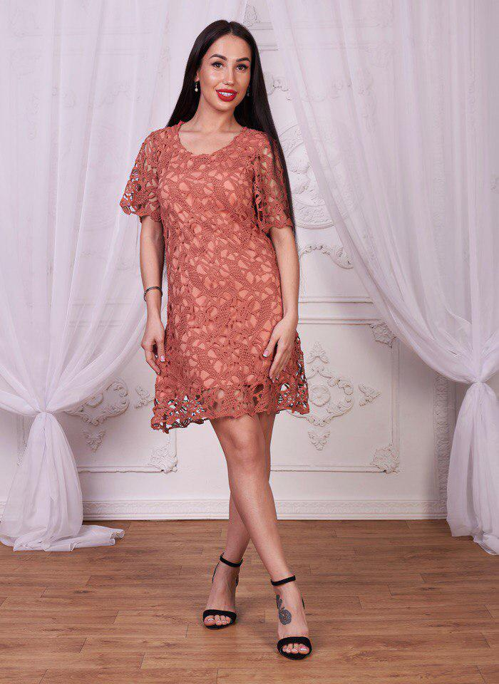acad4354fba Элегантное платье из хлопкового кружева - Интернет-магазин